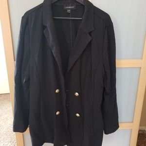 Lane Bryant Double Breasted Blazer Black